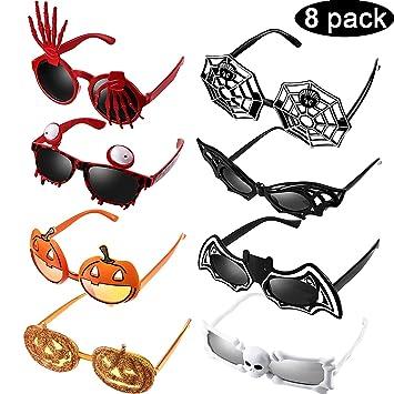 Amazon.com: Paquete de 8 gafas de fiesta de Halloween, gafas ...