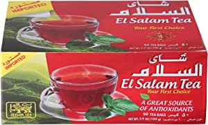 شاي اسود سيلاني من السلام، 50 كيس شاي- 100 جم