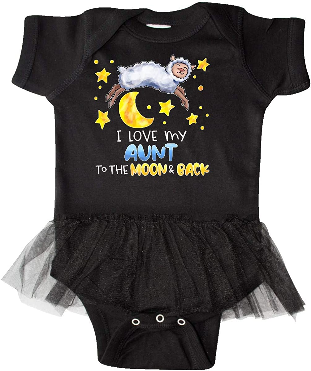 inktastic I Love My Aunt to The Moon and Back Cute Sheep Infant Tutu Bodysuit
