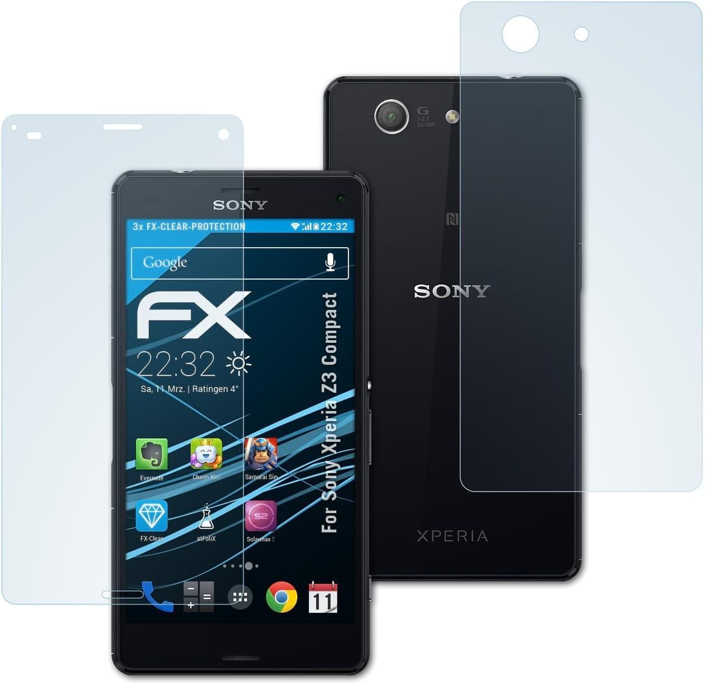 atFoliX Lámina Protectora de Pantalla Compatible con Sony Xperia ...