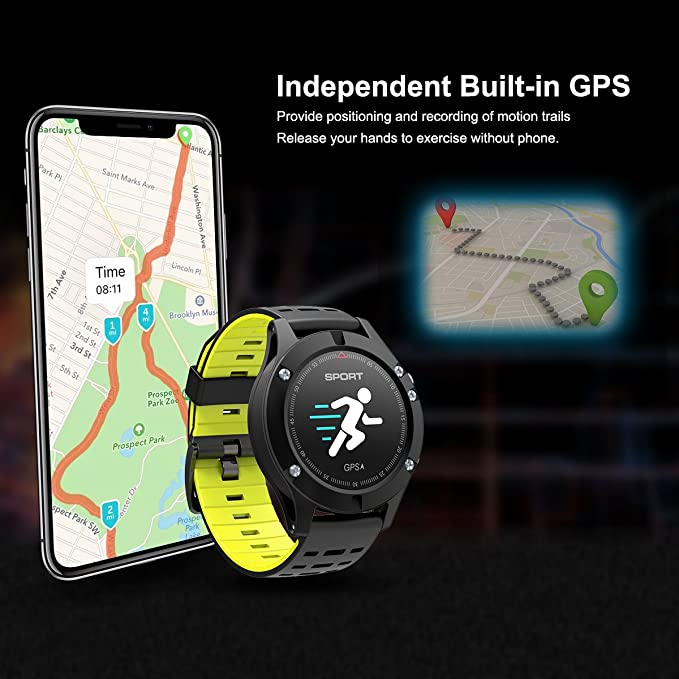 Diggro DB-05 Smart deporte Pulsera 0.95 pulgadas OLED GPS incorporado en el modo multi-sport del monitor de ritmo cardíaco