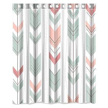 1a6dbf0655e4 Amazon.com  Miss2 Polyester Waterproof Fabric Cute Arrow Aztec Pattern Custom  Shower Curtain Standard Size 66X72  Clothing