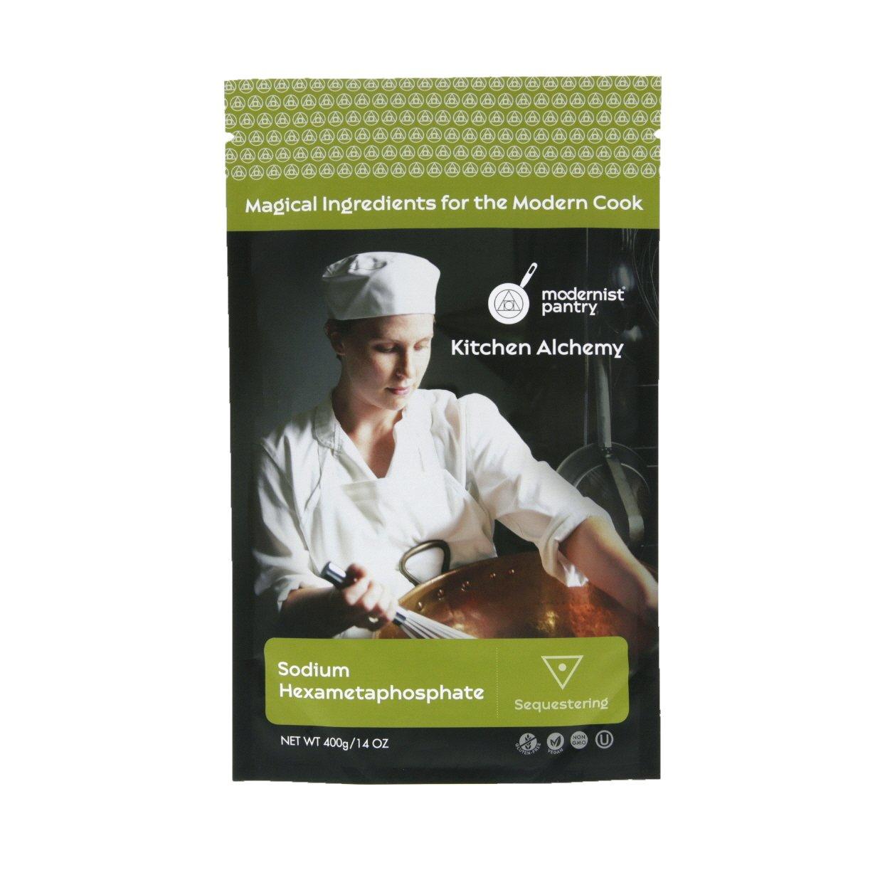Pure Sodium Hexametaphosphate (Molecular Gastronomy) ⊘ Non-GMO ☮ Vegan ✡ OU Kosher Certified - 400g/14oz