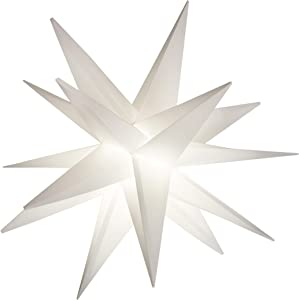 "Elf Logic 18"" Easy Assembly Moravian Star - Hanging Outdoor Christmas Star Light - Use as Holiday Decoration, Porch Light (LED -Plug in, 18 Inch)"