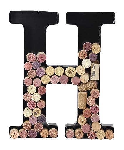 2b53c212a239 Amazon.com  Metal Letter Wine Cork Holder Monogram w Free Wall Mount ...
