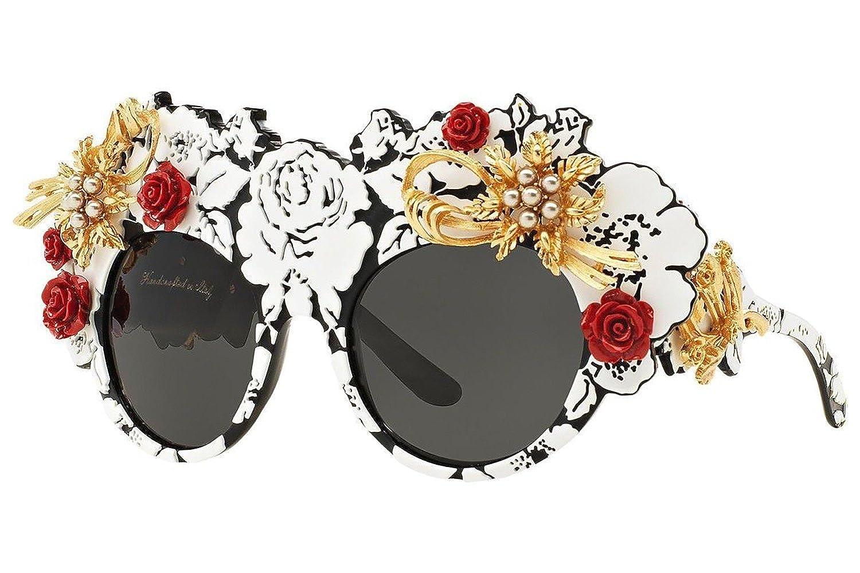 Amazon.com: Dolce & Gabbana DG4275H Sunglasses Color 157487 ...