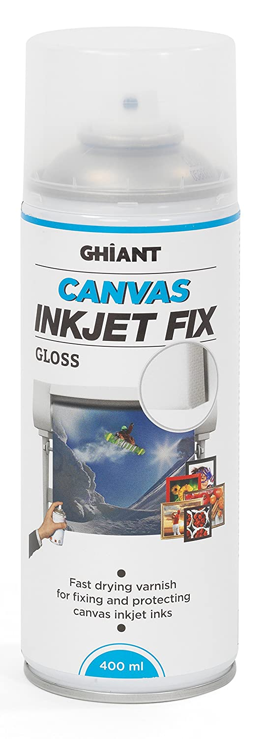 Ghiant 400 ml Canvas Ink Jet Fix Can, Gloss/Transparent 66070503
