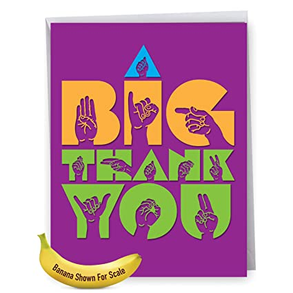 Amazon jumbo thank you card with envelope 85 x 11 big image unavailable m4hsunfo