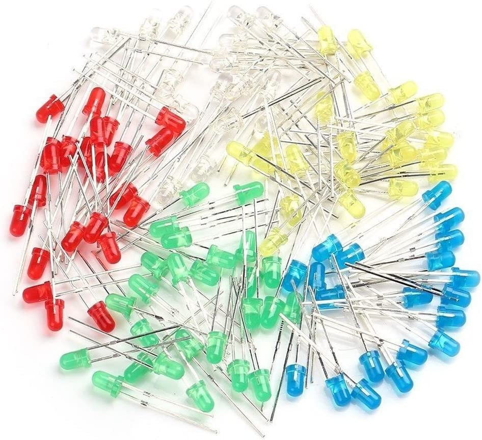 Red Yellow Assortment Kit. Round 3mm LED Green