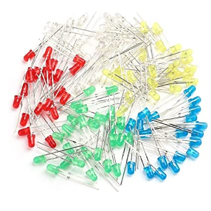500pcs 5mm Led Diode Light Assorted Kit Diy Leds Set White Yellow Red Green Blue Diodes