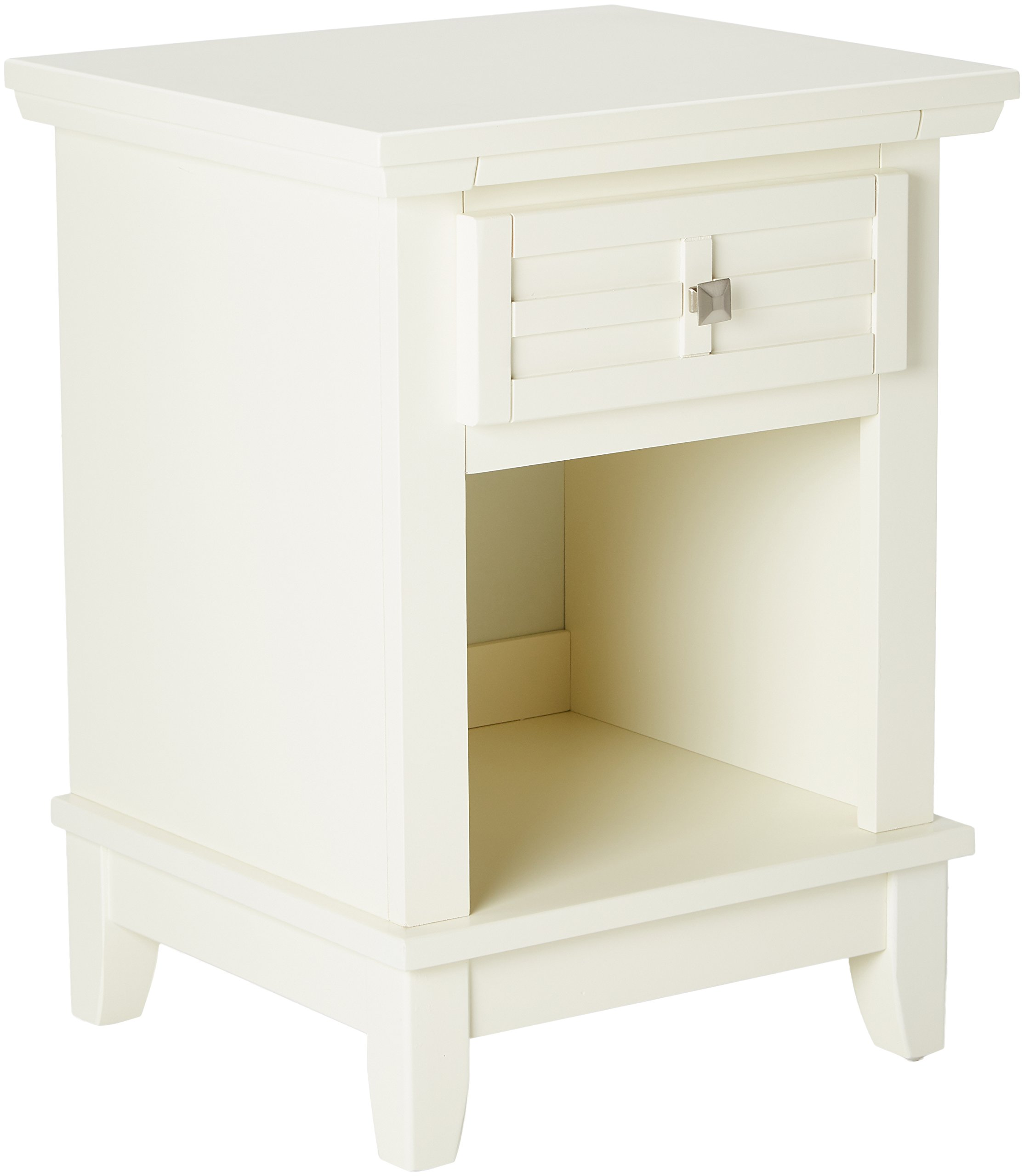 Home Styles 5182-42 Arts Crafts Night Stand, White Finish