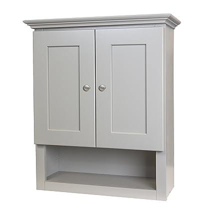 Amazon Com Shaker Gray 21x26 Bathroom Wall Cabinet Kitchen Dining