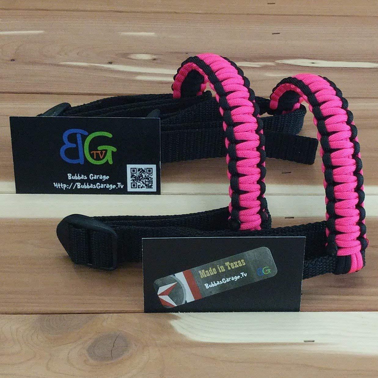 Paracord Jeep Wrangler Grab Handles Pick your pairs Black /& Hot Pink