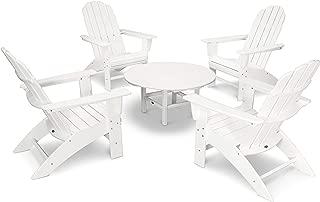 product image for POLYWOOD Vineyard 5-Piece Oversized Adirondack Chair Conversation Set