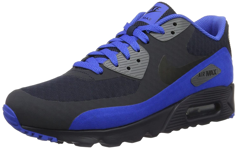 Amazon.com | Nike Mens Air Max 90 Ultra Essential Running Shoes, Dark Obsidian/Black, 8 M US | Road Running