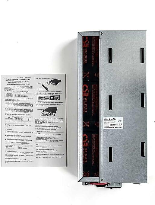 UPSBatteryCenter Replacement Battery Set for Liebert GXT3-240VBATTCE 12V 5Ah F2 4