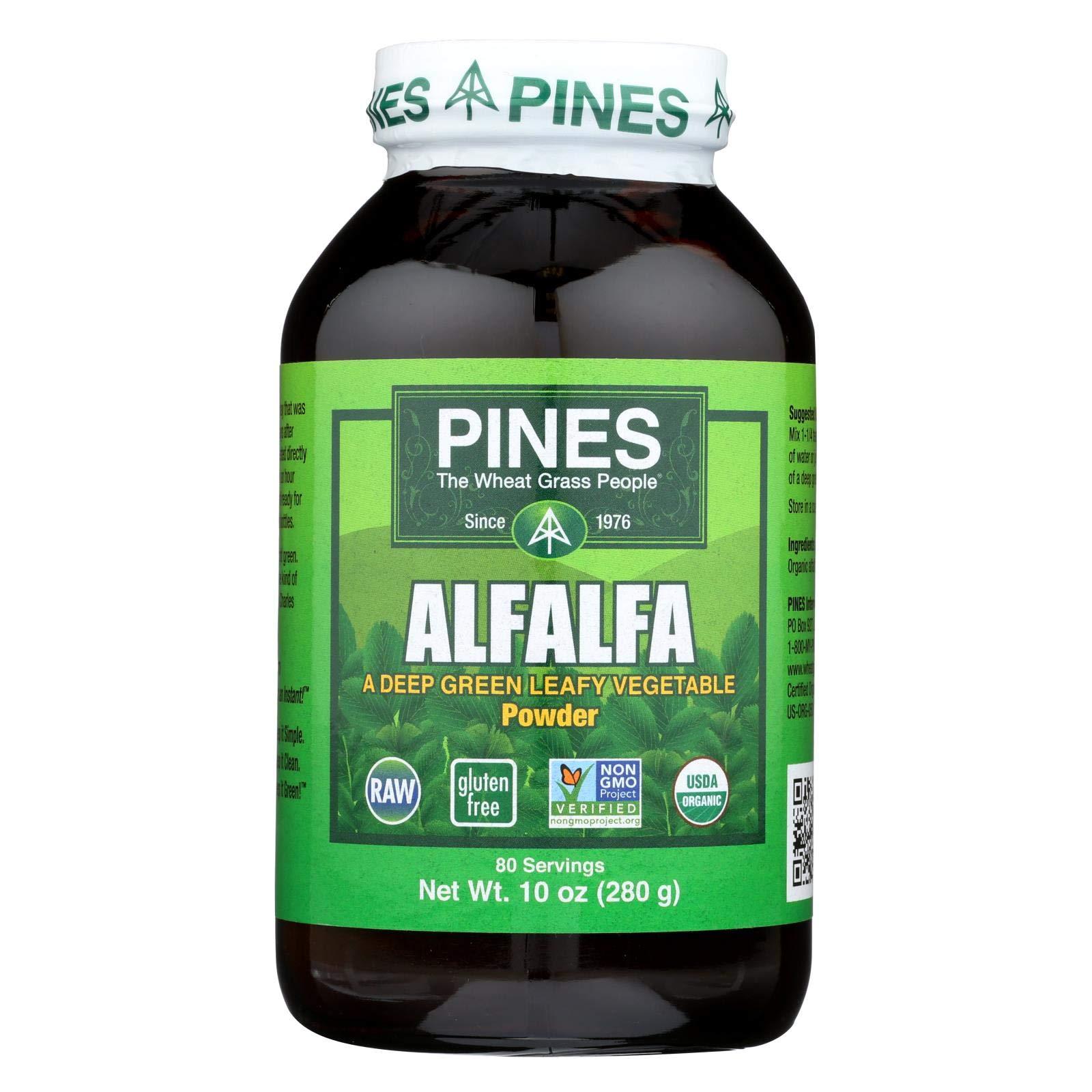 2Pack! Pines International Alfalfa - Organic - Powder - 10 oz