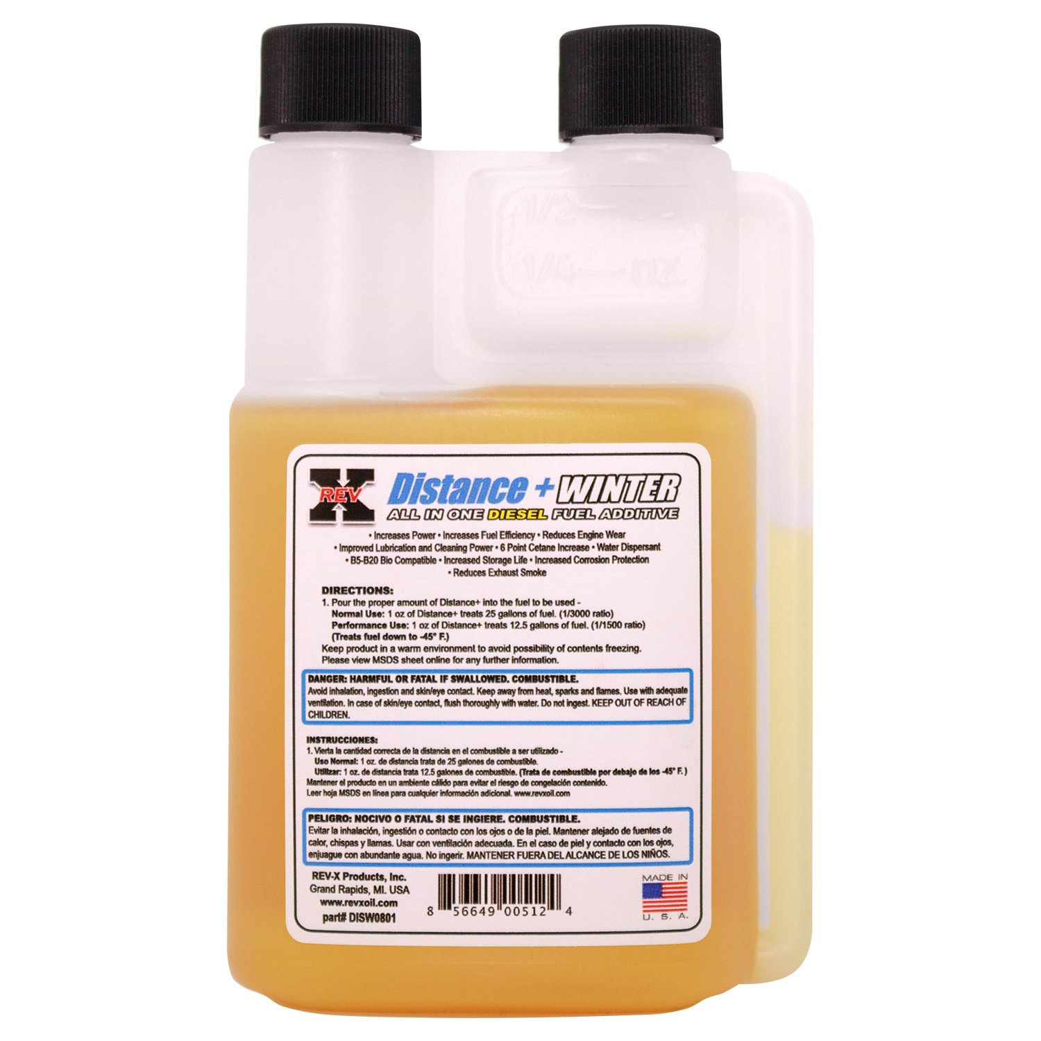 Amazon.com: REV-X Diesel Winter Oil & Fuel Treatment Kit - 4 oz Oil Treatment (2) + 8 oz Distance+ Winter: Automotive