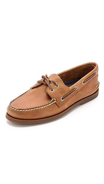 Sperry Top-Sider Men's Authentic Original 2-Eye Boat Shoes, Genuine All Leather Non-Marking Rubber Outsole