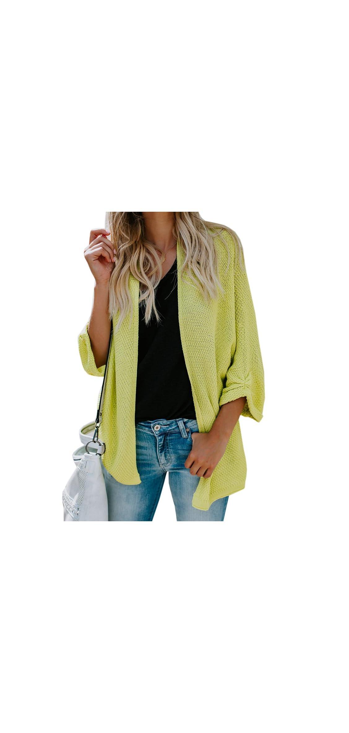 Womens Dolman Sleeve Cardigan Sweaters Oversized Open Front Knit