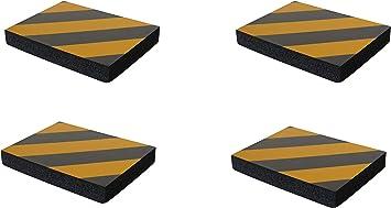 Sns Safety Ltd Selbstklebenden Stoßdämpfende Schaumstoff Wandplatten Für Garagenwand Und Autotür Schutz 4 Stück 24x18x3 Cm Schwarz Gelb Auto
