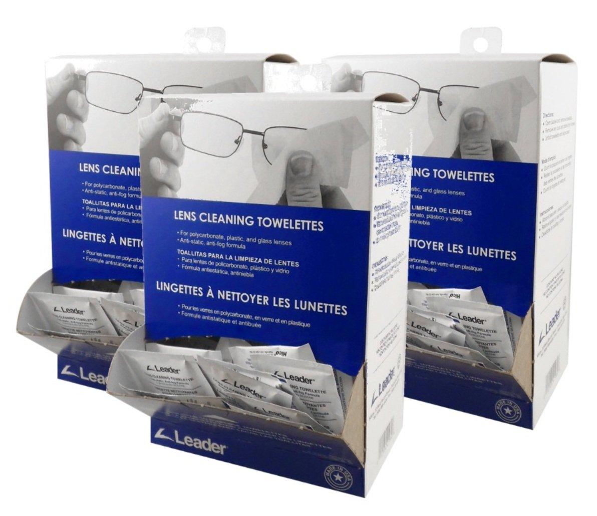 Leader Lens VBNF Cleaning Towelette Dispenser (Pack of 100) 3 Pack