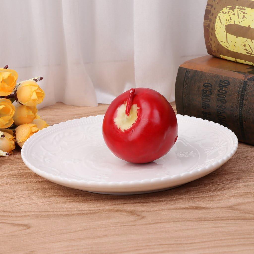 Qiman Bougie parfum/ée en Forme de Pomme /émulative No/ël Eve Parties Cadeaux Petite Taille