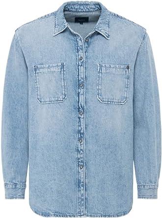Pepe Jeans Camisa Prairy Denim Azul Mujer: Amazon.es: Ropa y ...