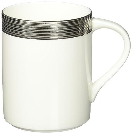 amazon com mikasa ridge square mug silver coffee cups mugs