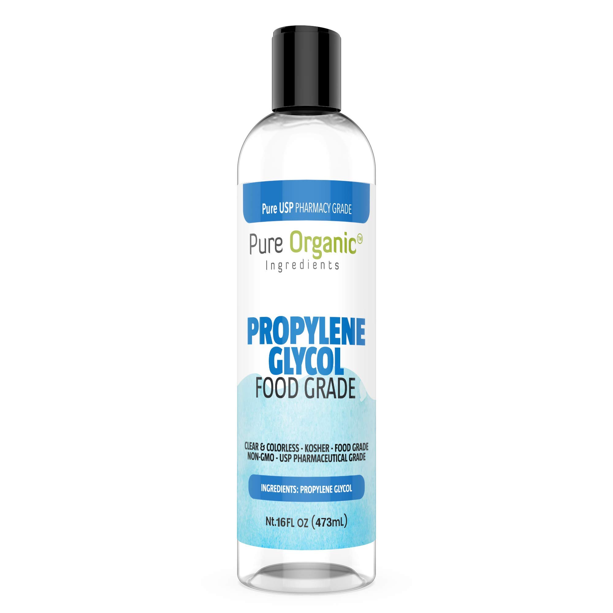 Propylene Glycol (16 oz.) by Pure Organic Ingredients, Lower Freezing Point, Use in Moisturizers and Cosmetics, Humectant, Preservative, Solvent, Eco-Friendly Antifreeze, Winterize Water Systems by Pure Organic Ingredients