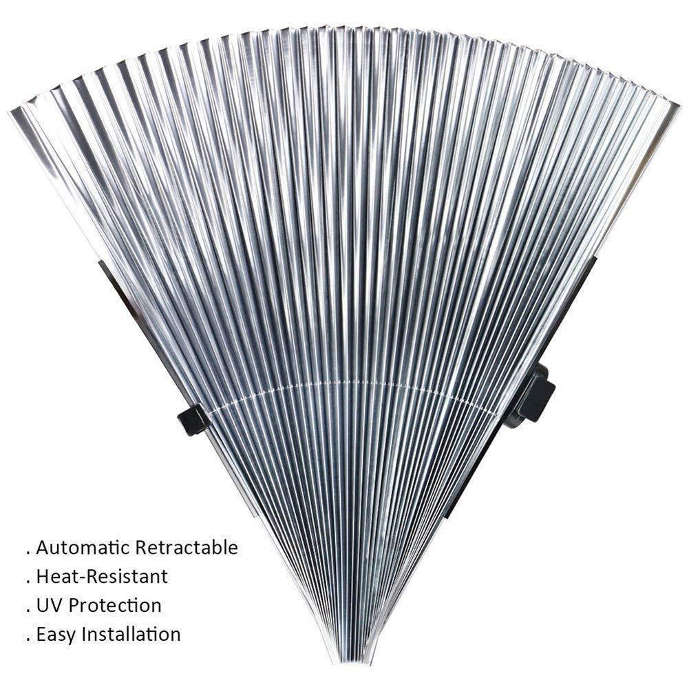 Stile fisarmonico FBARTL Parasole per Parabrezza Auto per Parabrezza Anteriore Retrattile e Automatico