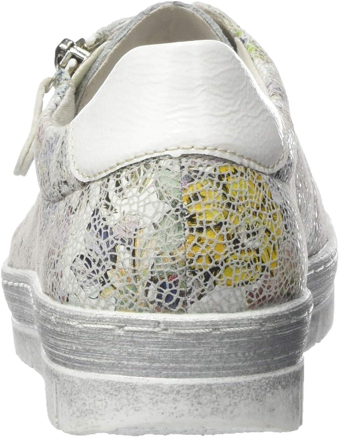 Remonte D5800, Sneakers Basses Femme Multicolore Ice Multi Bianco 93
