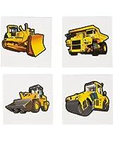 Construction Zone Tattoos (72 Pack) Temporary Tattoo