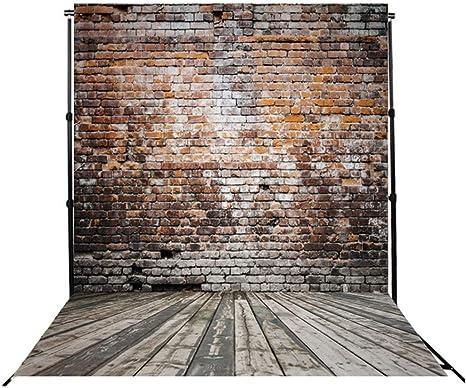 Doduos Fotohintergrund 2m X 3m Großen Fotografie Hintergrund Ziegelwand Und Holzboden Hintergründe Für Photo Booth Videostudio Studio Requisiten Küche Haushalt