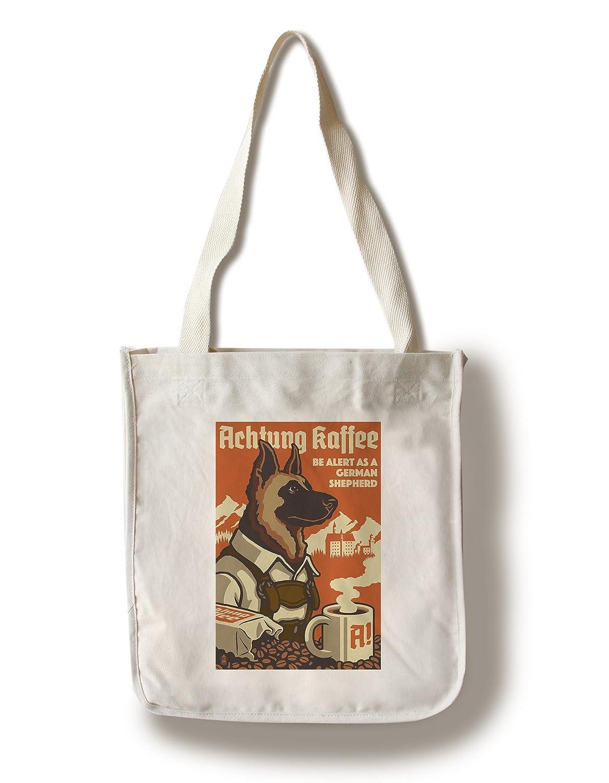 German Shepherd – レトロコーヒーAd Canvas Tote Bag LANT-54875-TT B01841UNVM Canvas Tote BagCanvas Tote Bag