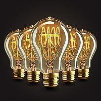 5×Neverland E27 40W Edison Rétro Lampe Antique Vintage Incandescence Ampoules Poire à cage d'écureuil Filament 50V-240V A19