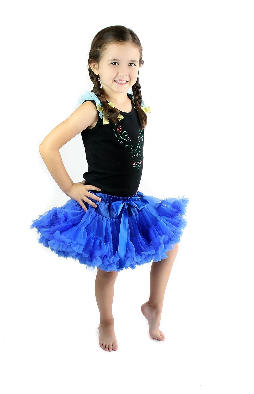 Royal Roe Little Girls Princess Rhinestone Vines Pettiskirt Set