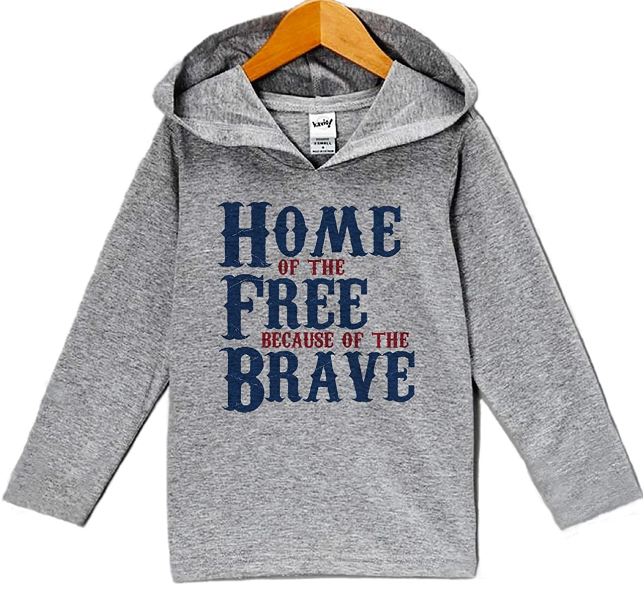 Custom Party Shop Kids Home of the Free 4th of July Hoodie Pullover