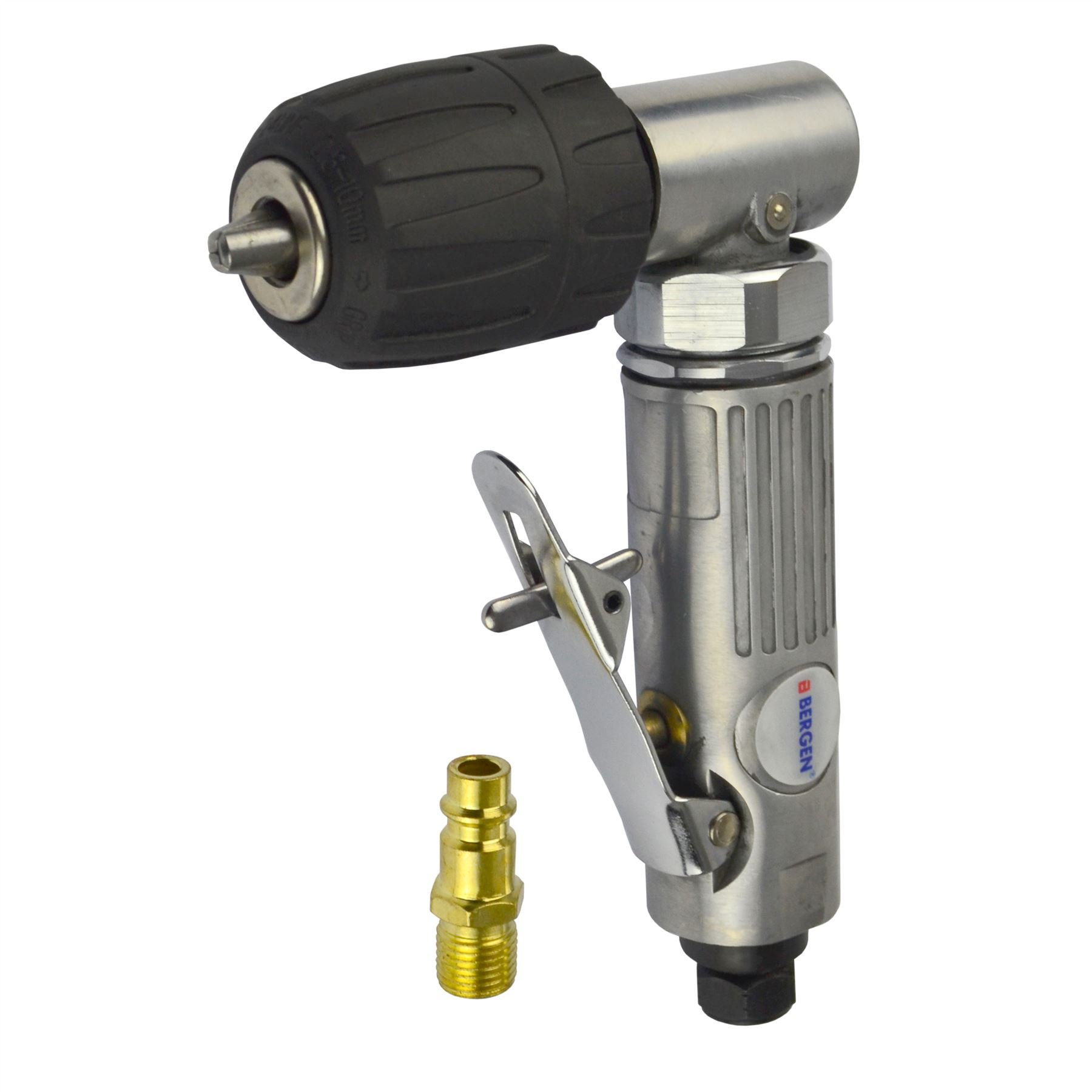 3/8'' Keyless Air Angle Drill Right Angle Drilling Tool Chuck BERGEN AT643