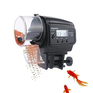 Aolvo alimentador automático de peces, dispensador de alimentos para acuario, alimentador automático de peces
