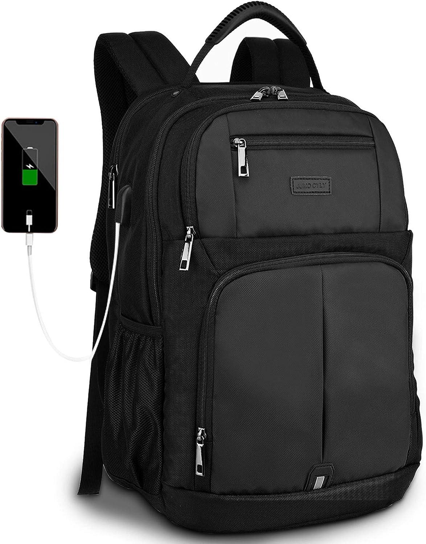 Black Tzowla Travel Laptop Backpack Waterproof Business Work School College Bag Daypack with USB Charging/&Headphone Port for Men Women Boy Girl Student Durable Luggage Backpacks Fit 15.6//17Inch