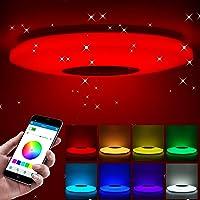 Tendlife Luz de techo Led Music con altavoz Bluetooth 36W, cambio de color RGB con…