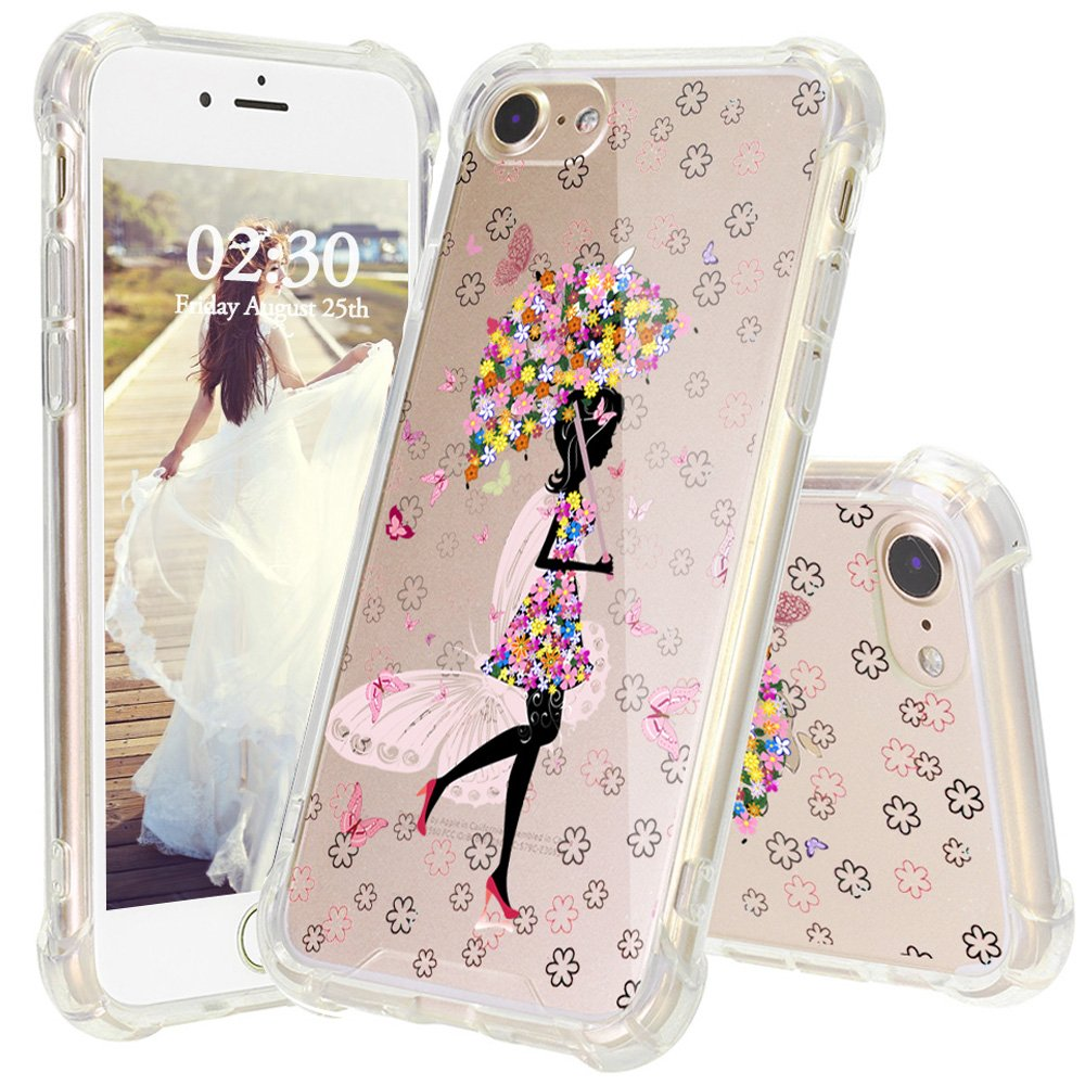 Amazon.com: iPhone 8 Caso, jexicase Flor Floral Mariposa ...