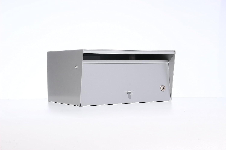 Box Design ポスト 郵便受け Metro Silver B00W6HVX9W 28620 Silver Silver
