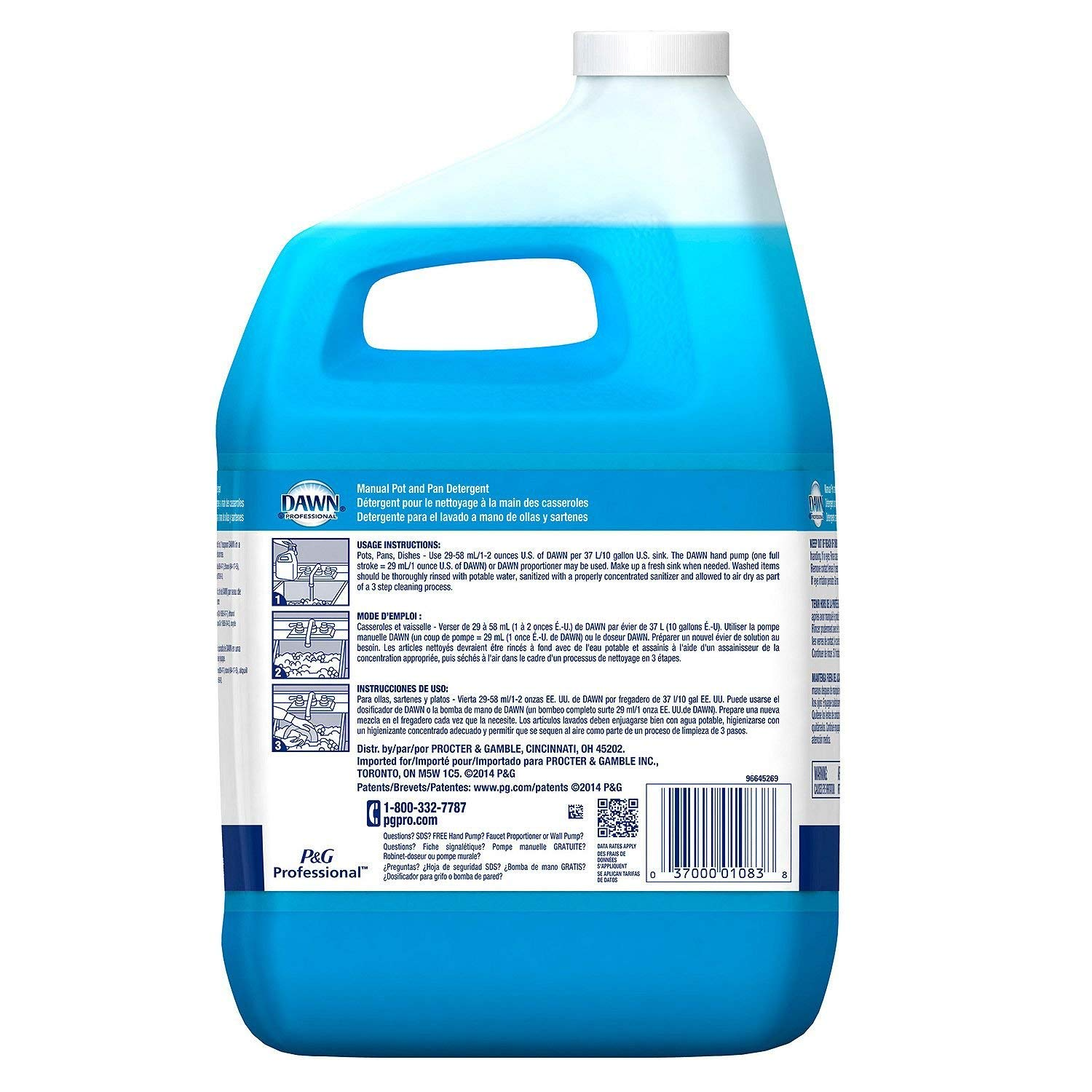 Dawn Professional Pot and Pan Detergent Regular Scent 1 Gallon: Amazon.com: Industrial & Scientific