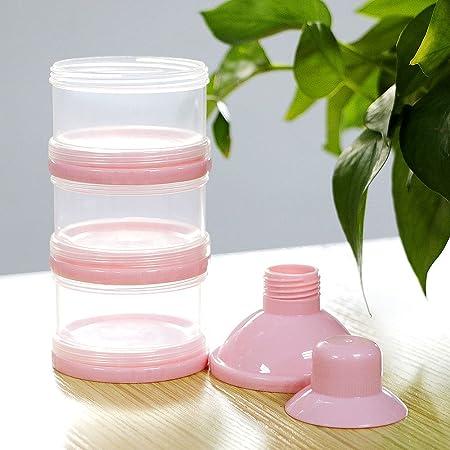 Blau Kompassswc Milchpulverportionierer 3 Schicht Milchpulverspender Baby S/äuglingsnahrung Milchpulver Box Anti Versch/ütten Reise tragbar Milchbox