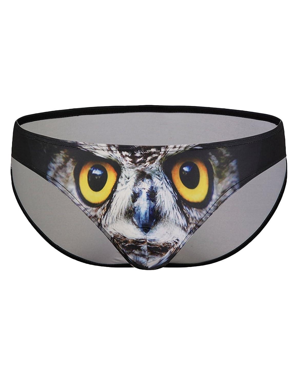 Bestgift Men's 3D Animal Printed Bulge Pouch Brief Underwear BSGFSH0213