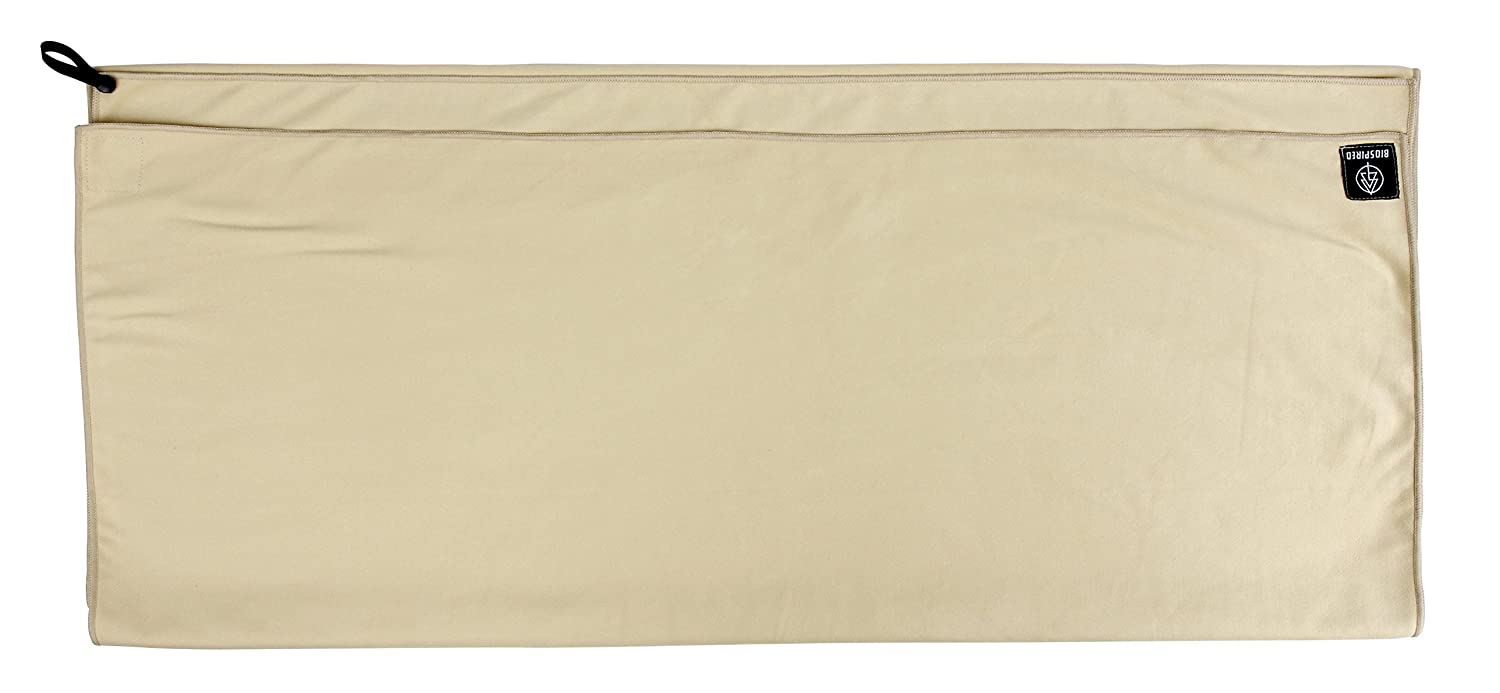 Biospired Footprint Lightweight Microsuede Camping Towel with Snap Loop//Carry Pouch Everplush Company 61006070020-P