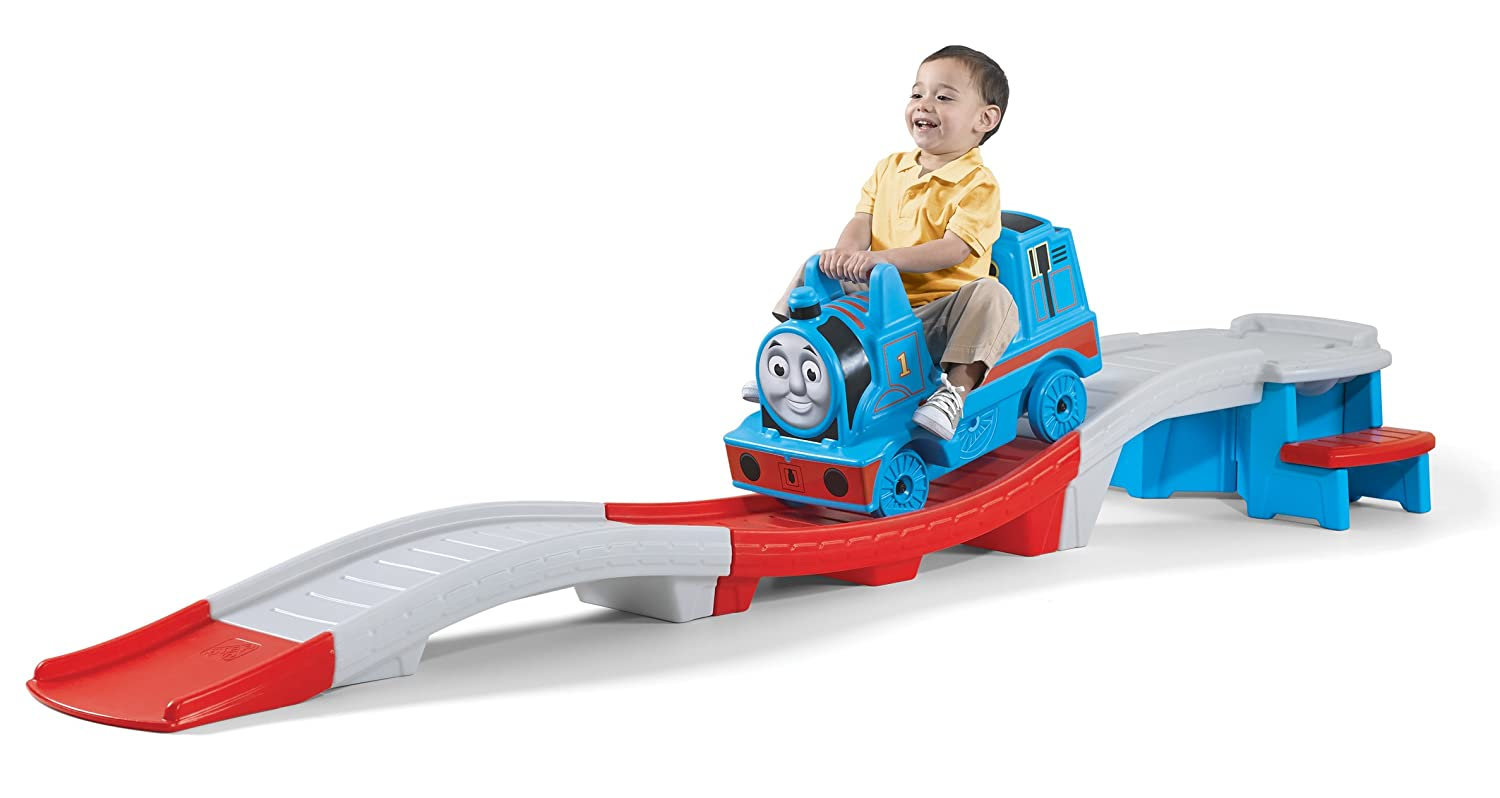 Amazon.com: Step2 Thomas the Tank Engine Up and Down Roller Coaster: Toys &  Games