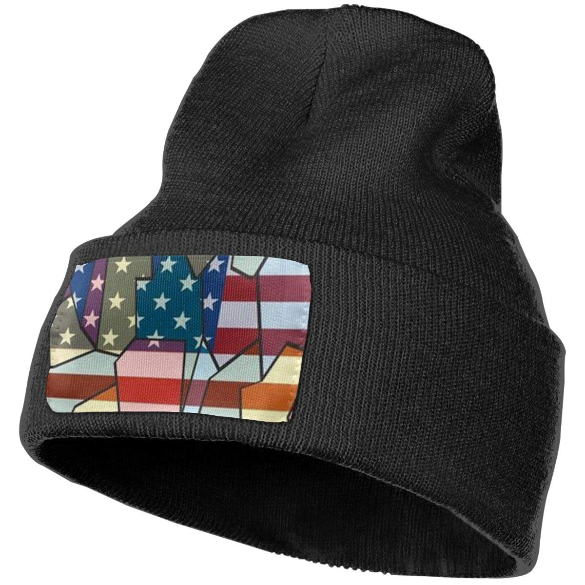 Horizon-t Star America Unisex 100/% Acrylic Knitting Hat Cap Fashion Beanie Hat